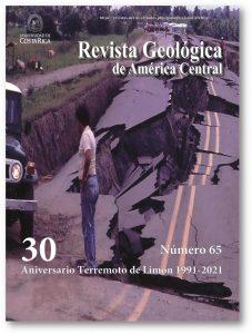 Portada volumen especial #65 de la Revista Geológica de América Central